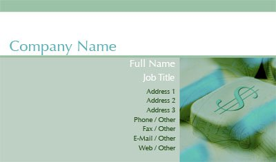 Cash Register Business Card Template